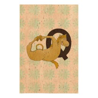 Monogram Q Cartoon Pony Customized Cork Fabric