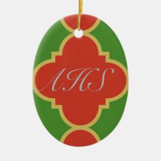 Monogram Quatrefoil Ornament