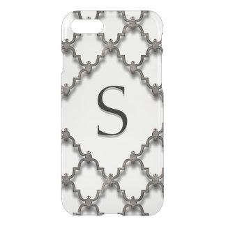 Monogram Quatrefoil Ornamental Design Chg Initial iPhone 7 Case