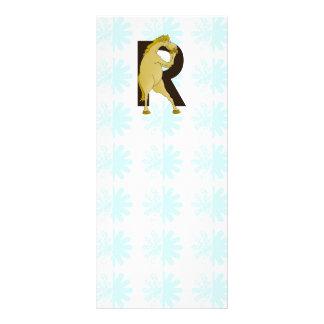 Monogram R Agile Pony Customized Custom Rack Cards