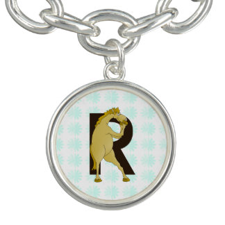 Monogram R Cartoon Pony Customized