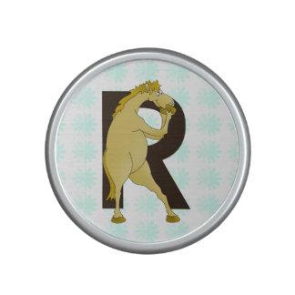 Monogram R Funny Pony Personalised Bluetooth Speaker