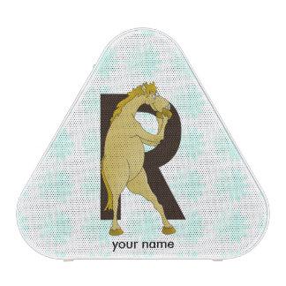 Monogram R Funny Pony Personalised Speaker