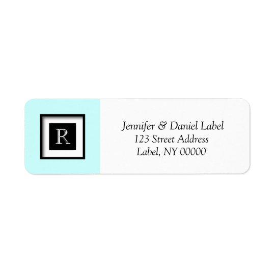 Monogram R Personalised Return Address Label