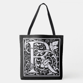 Monogram R Reversible B&W Tote Bag All-Over Print