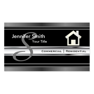 Monogram Real Estate Professional Agent Pack Of Standard Business Cards
