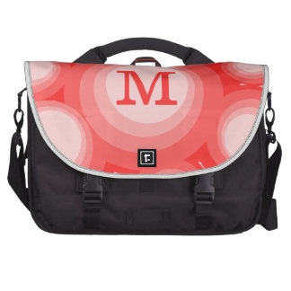 Monogram Red and Pink Circles Bags For Laptop