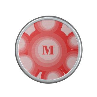 Monogram Red and Pink rings Bluetooth Speaker