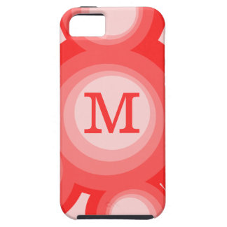 Monogram Red and Pink rings iPhone 5/5S Cases
