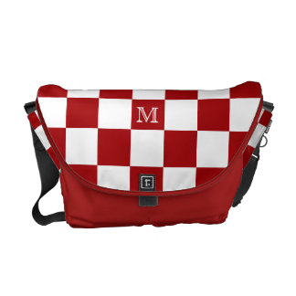 Monogram: Red And White Checkered Bag Courier Bags
