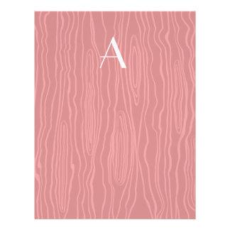 Monogram red faux bois full color flyer