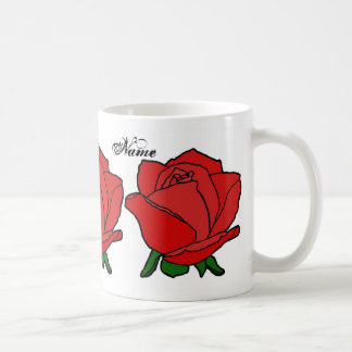 Monogram Red Rose Mugs Cups and Steins
