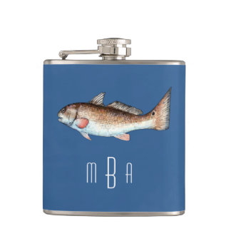Monogram Redfish Hip Flask