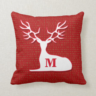 Monogram Reindeer | Deck the Halls | Cushions