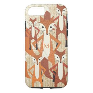 Monogram Retro Fox Art Orange Retro iphone 5 iPhone 7 Case
