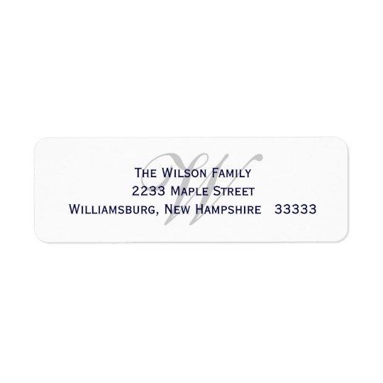 Monogram Return Label