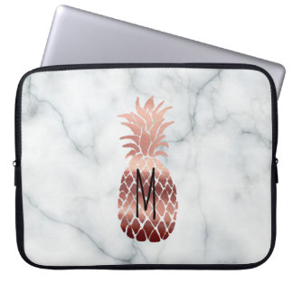 monogram rose gold pineapple laptop sleeve