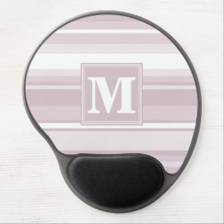 Monogram rose quartz stripes gel mouse pad