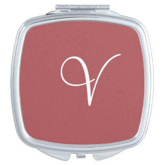 Monogram Rose Vale Modern Color Matched Travel Mirrors