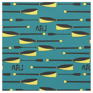 Monogram Rowing Oars yellow and black Fabric