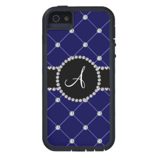 Monogram royal blue tuft diamonds iPhone 5 covers