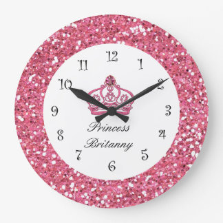 Monogram Royal Princess Jewel Wall Clock