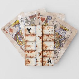 Monogram Rusty Metal Bicycle Playing Cards