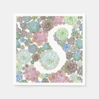 Monogram S succulents napkin Paper Napkin