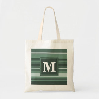 Monogram sage green stripes