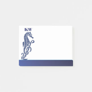 Monogram Sea Horse Beach Theme Post-it Notes