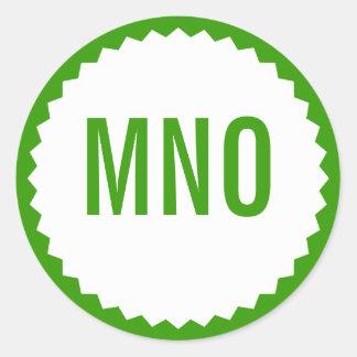 Monogram Seal Zigzag Border, Grass Green