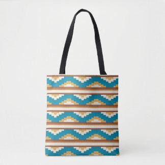 Monogram Series: Aztec. Ethnic. Tribal. Tote Bag