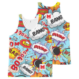 Monogram Series: Comics Pattern. All-Over Print Singlet