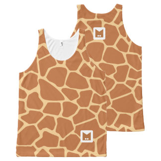 Monogram Series: Cute Giraffe. All-Over Print Singlet