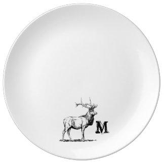 Monogram Series: Forest Elk Silhouette Plate