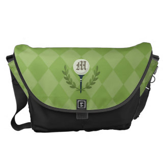 Monogram Series: Golf Ball & the Green. Messenger Bag