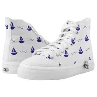 Monogram Series: Nautical Theme. Sailing Ship. High Tops