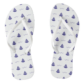 Monogram Series: Nautical Theme. Sailing Ship. Thongs