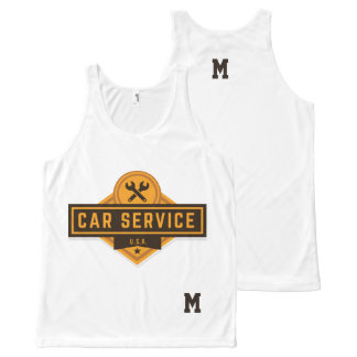 Monogram Series: Real American Car Service. All-Over Print Singlet