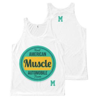 Monogram Series: Real American Muscle. All-Over Print Singlet