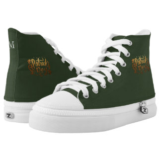 Monogram Series: St Patrick's Day. Lucky Clover. High Tops