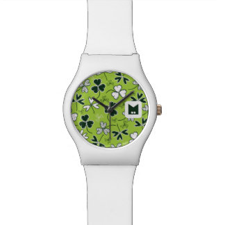 Monogram Series: St Patrick's Day. Lucky Clover. Watch