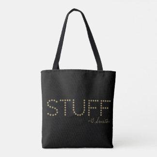 Monogram Series: Stuff. Plain and Simple. Tote Bag