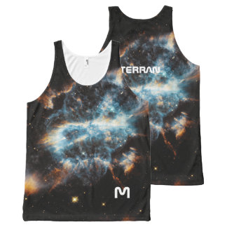 Monogram Series: Terran. Constellations and Space. All-Over Print Singlet