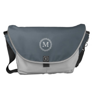 Monogram Series: Wheat Laurel Messenger Bags