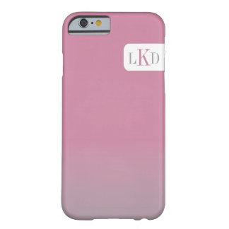 MONOGRAM + SHADED | adjustable colors Barely There iPhone 6 Case