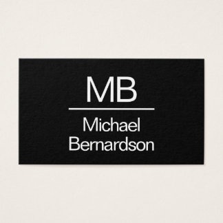 Monogram Simple Bold Design Business Card