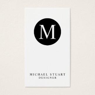 Monogram | Simple Modern Minimalist Custom Color Business Card