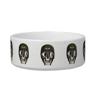 Monogram. Skull with Green Military  Helmet Bowl