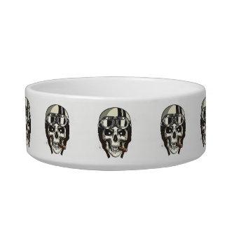 Monogram. Skull with White Biker Helmet & Cigar Bowl